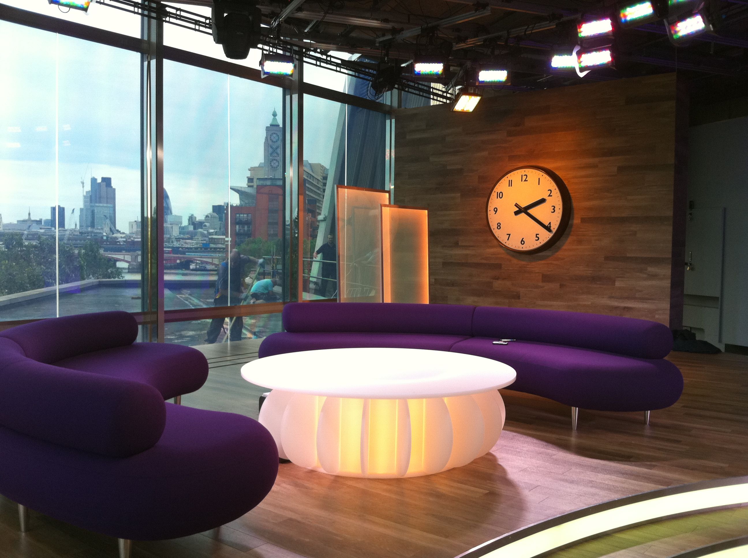 Large interior clock for TV show