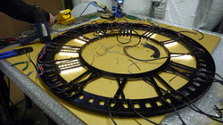 Fitting illumination to a clock dial