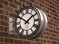 Small double sided projecting clock