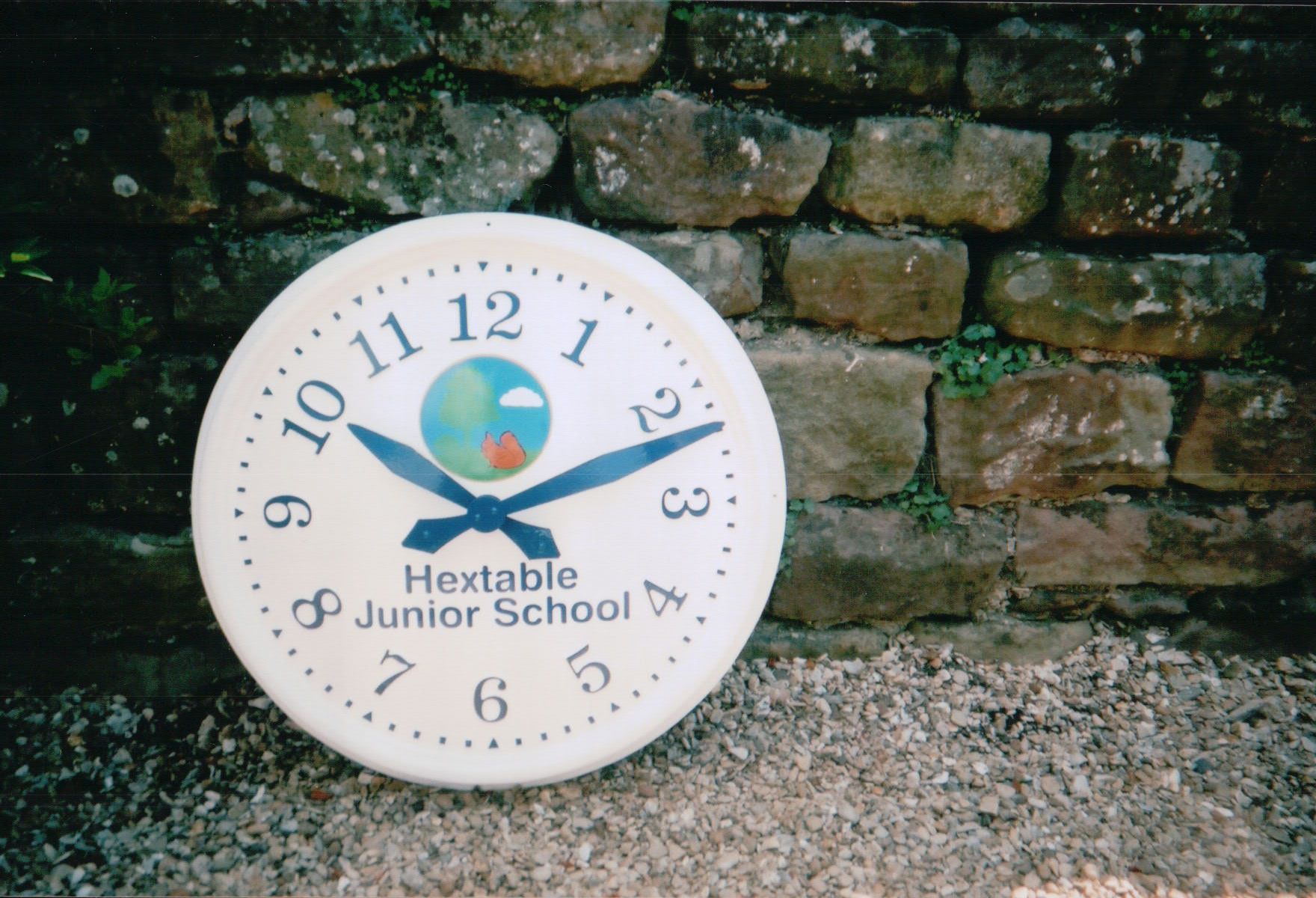 Sign written exterior clock