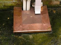 Copper drain cover