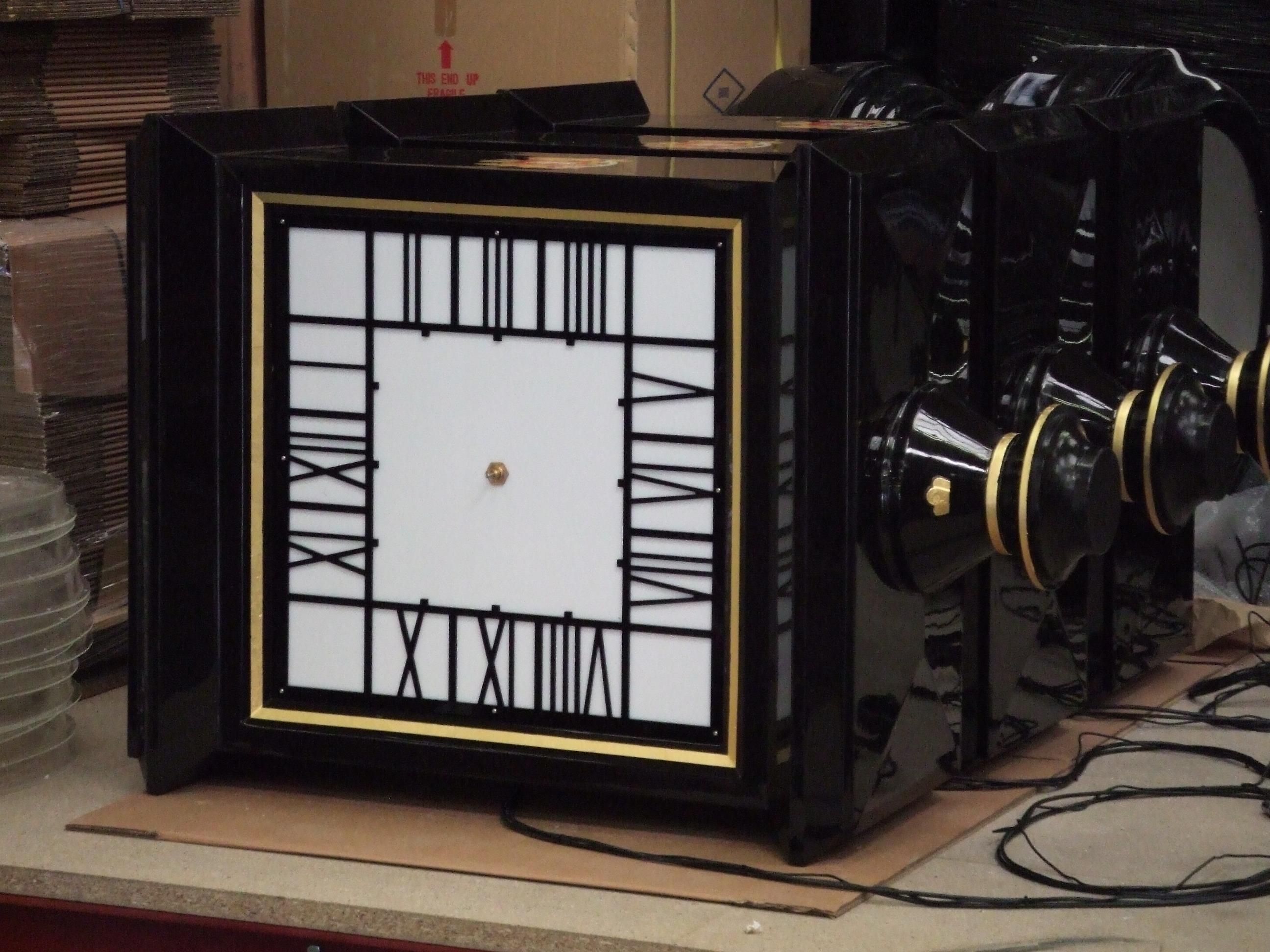 Square Drum clocks in manufacture
