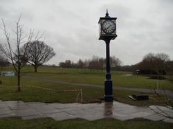 Pillar clock in park