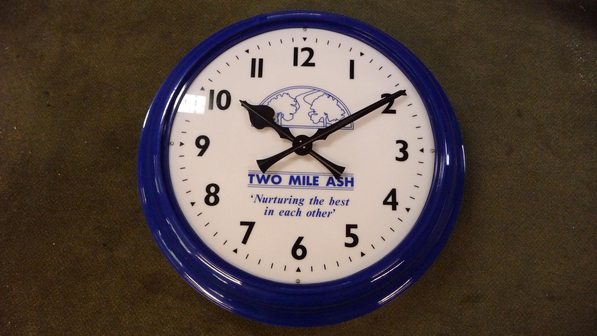 Two Mile Ash bezel clock