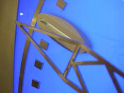 Blue illuminated clock