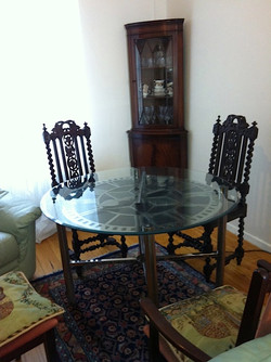 Dining room clock table