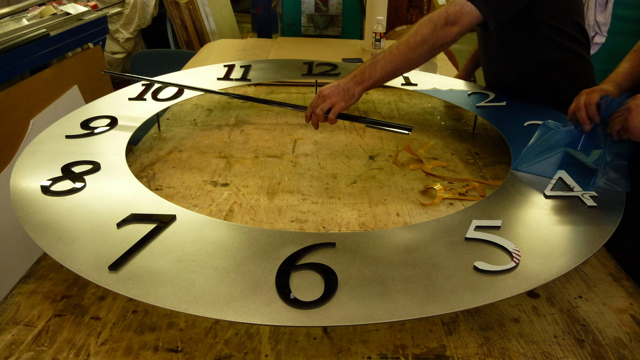 Bespoke clock being manufactured
