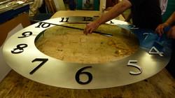 Bespoke clock being manufactured