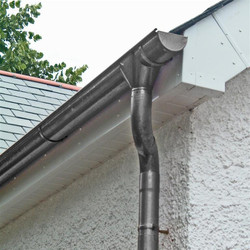 Stainless Steel half round gutter and downpipe
