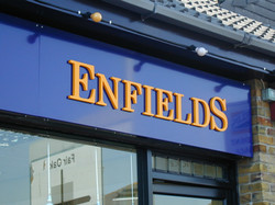 Shop front fascia sign