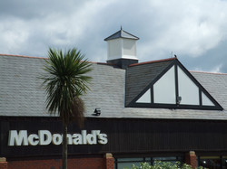 Large square roof turret