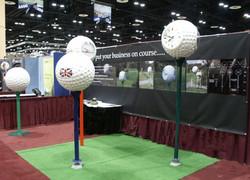 Golf ball clocks at exhibition