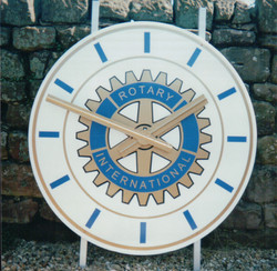 Rotary International clocks for indoor and outdoor use