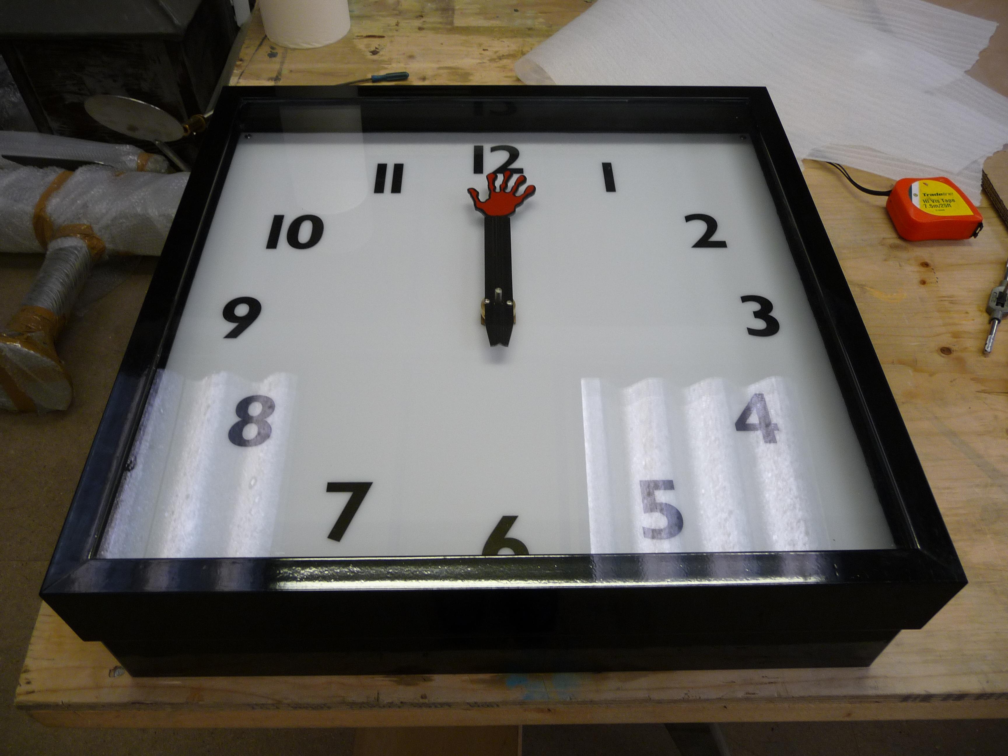 Bespoke square bezel clock