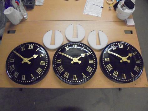 Large exterior clocks