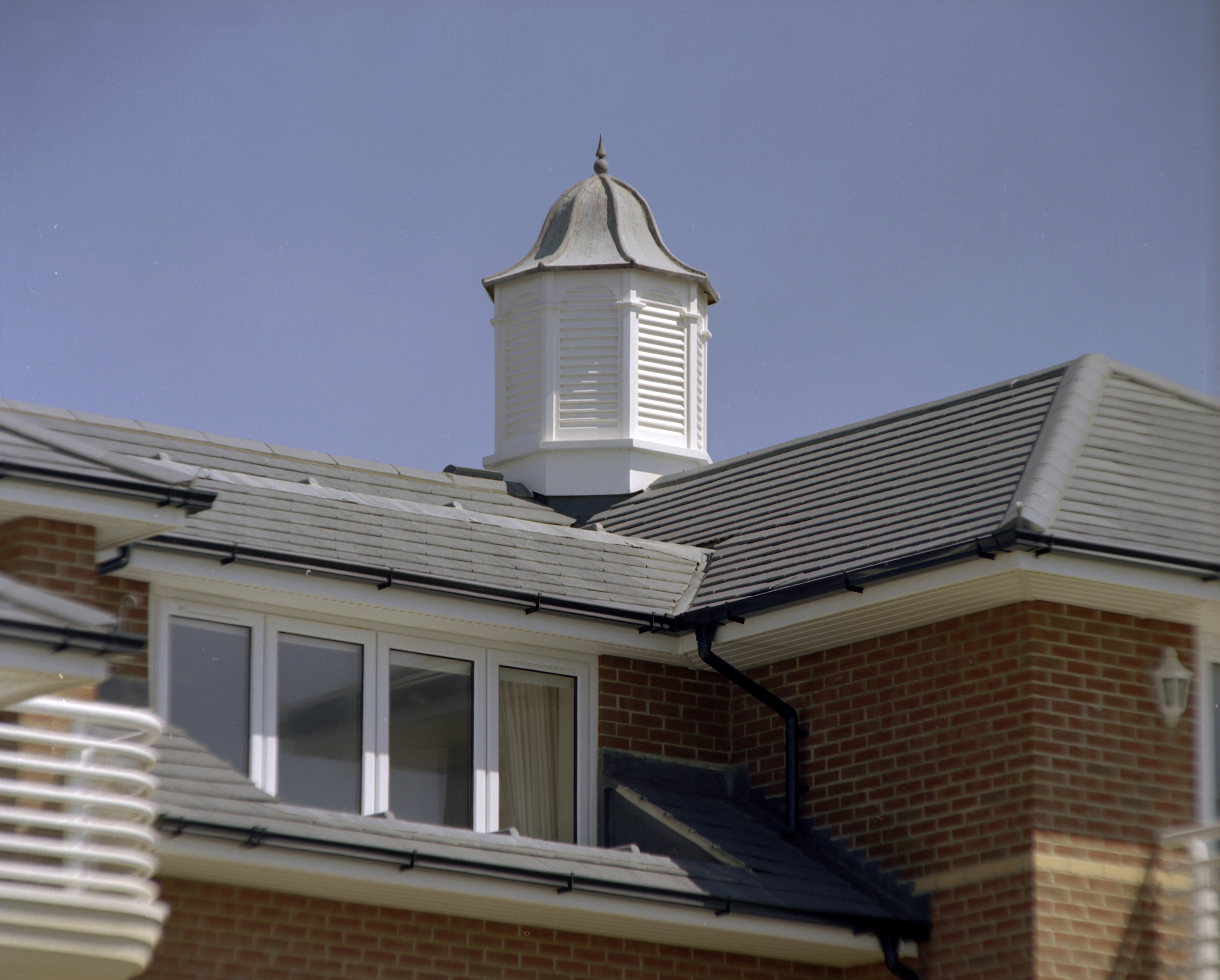 Roof turrets for blocks of flats
