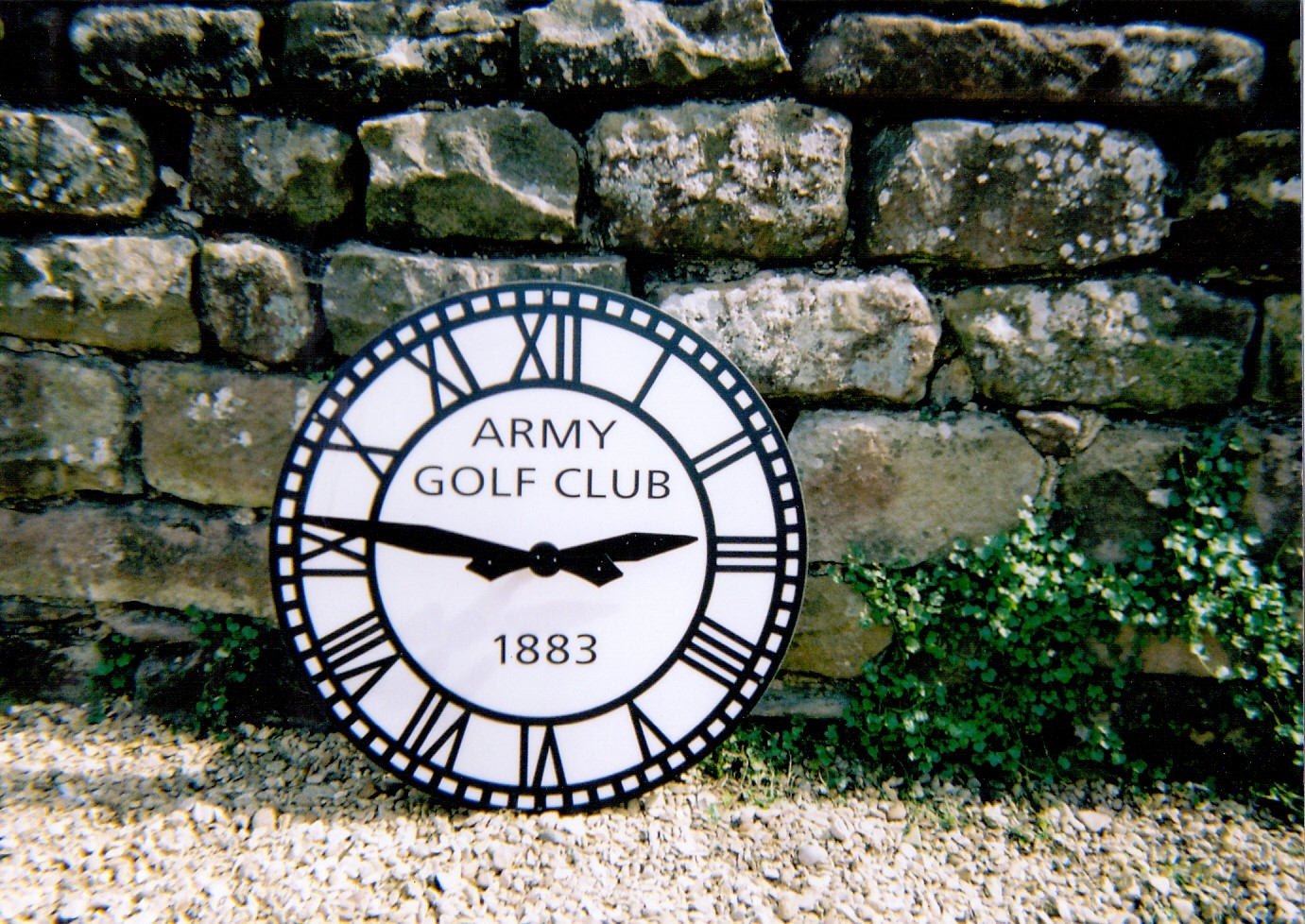 Exterior Clock with sign writing