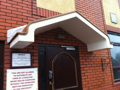 GRP Entrance Canopy for Mosque