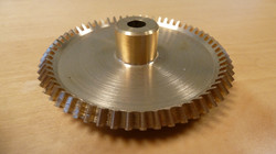 Brass clock gear