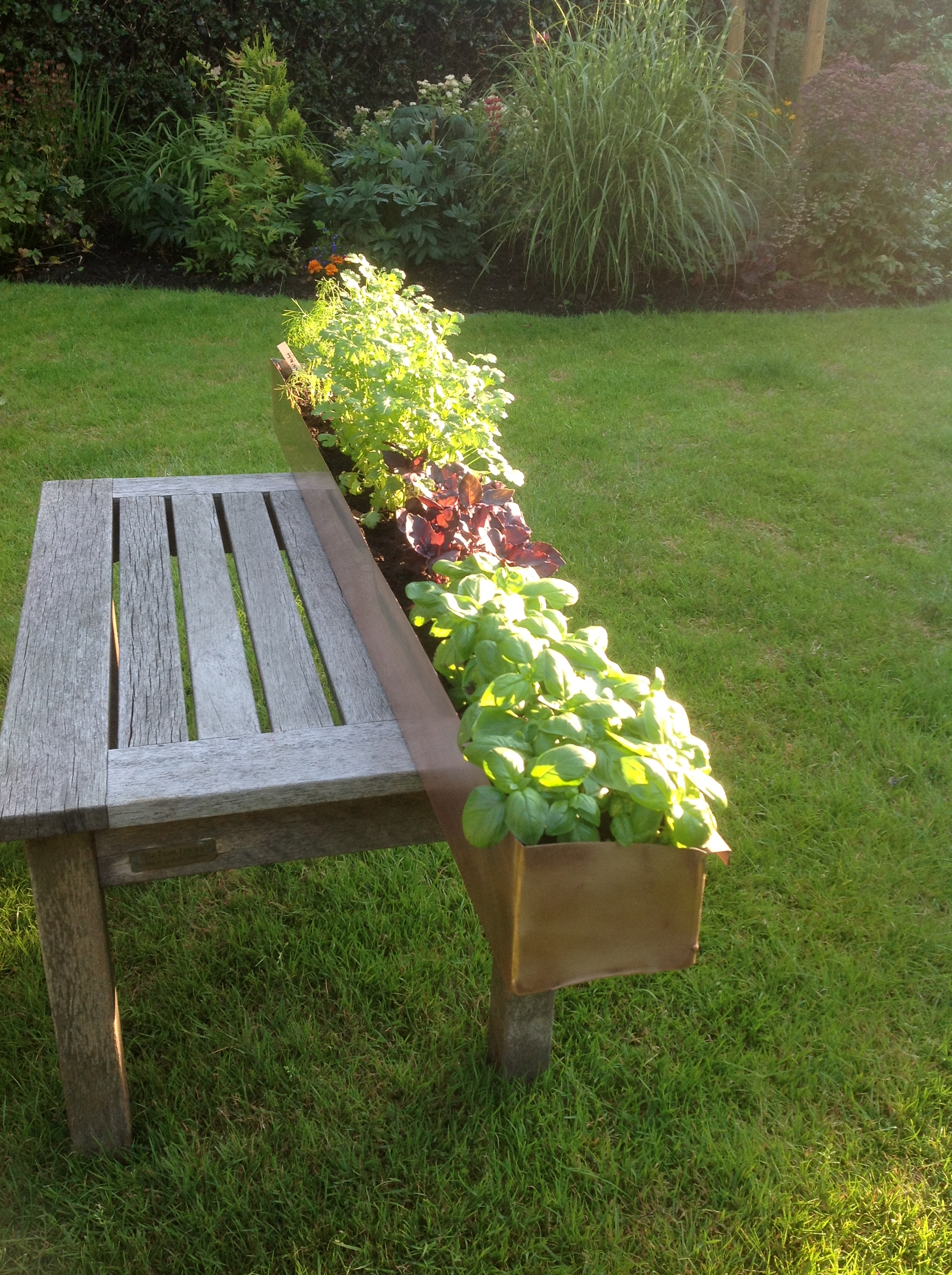 Copper Trough Planter