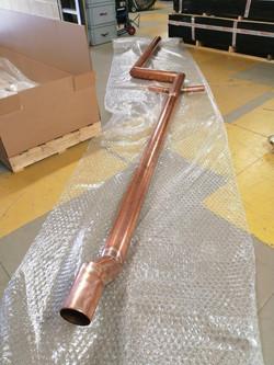 Copper downpipe