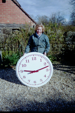 Customised standard outdoor clock