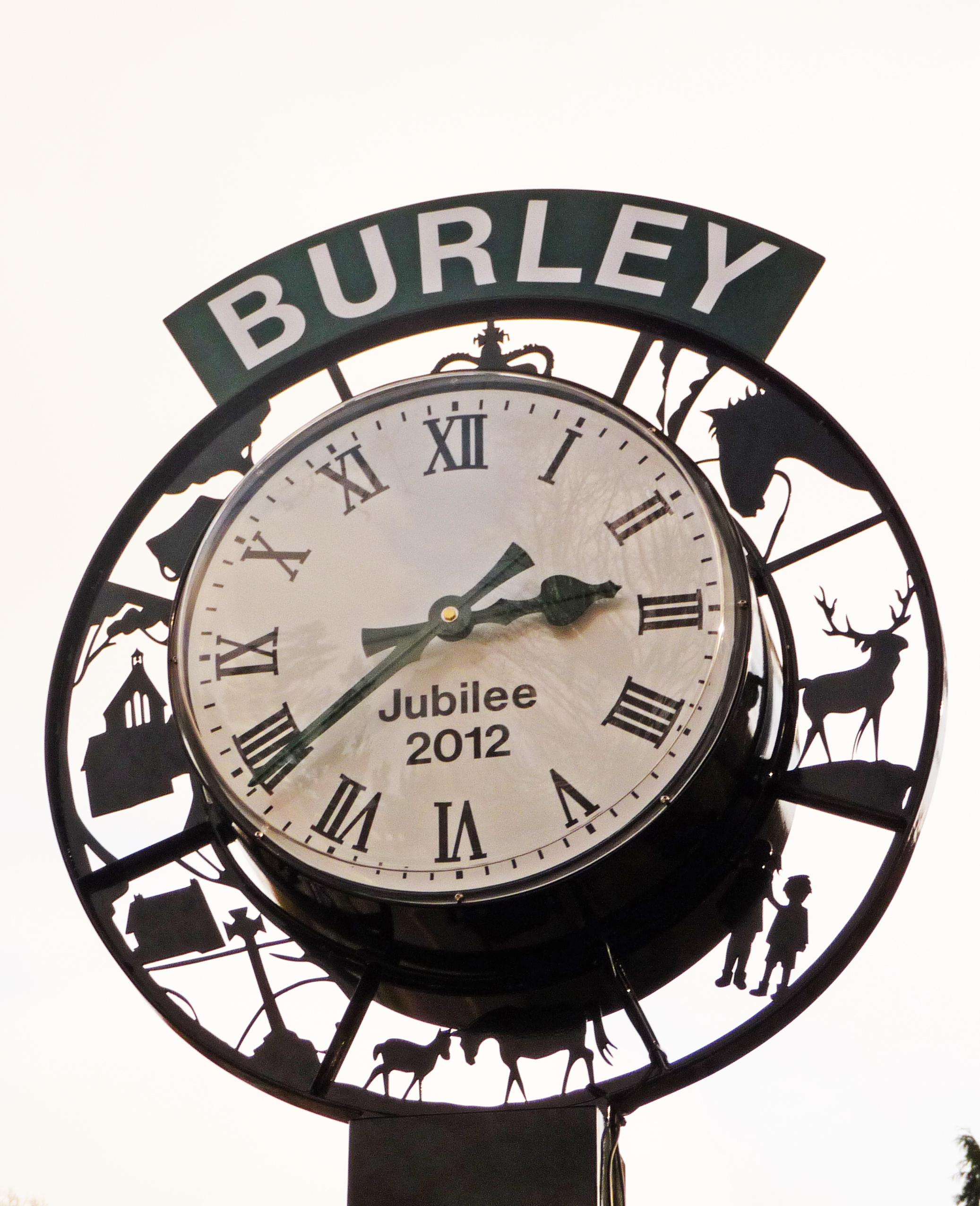 Signage on Pillar Clock
