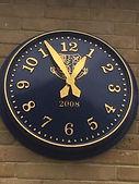 Blue Arabic Large External Clock