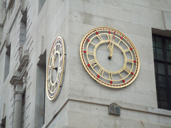 Gold and red skeleton dials