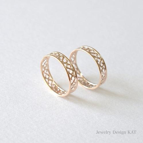 唐草の指輪(ピンクシルバー)