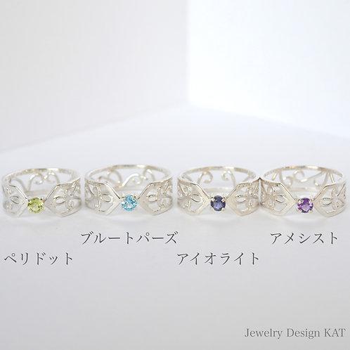 唐草の指輪(クロス・ラウンド)