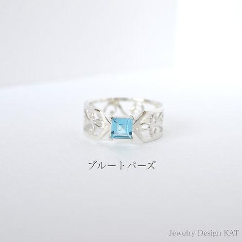 唐草の指輪(クロス・スクエア)