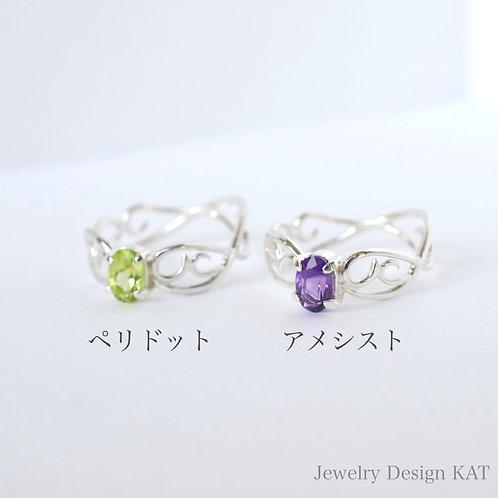 唐草の指輪(雲・オーバル)