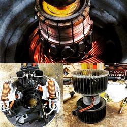 Вот такой вот он сгоревший мотор отопителя Bmw