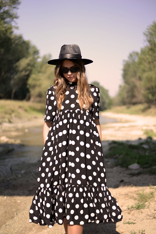 DOTS DRESS WITH POCKETS
