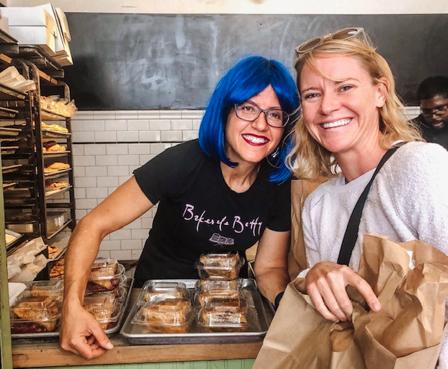 Me, fangirling with my homie BakeSale Betty.