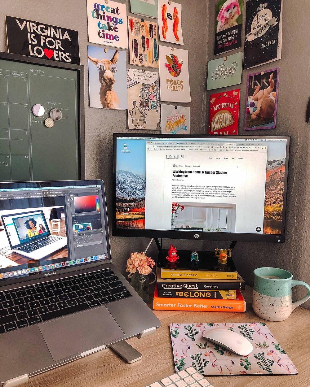 Jules' desk