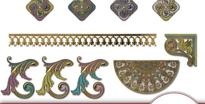 Renaissance Faire Element Pk 1 Scrapbooking Kit