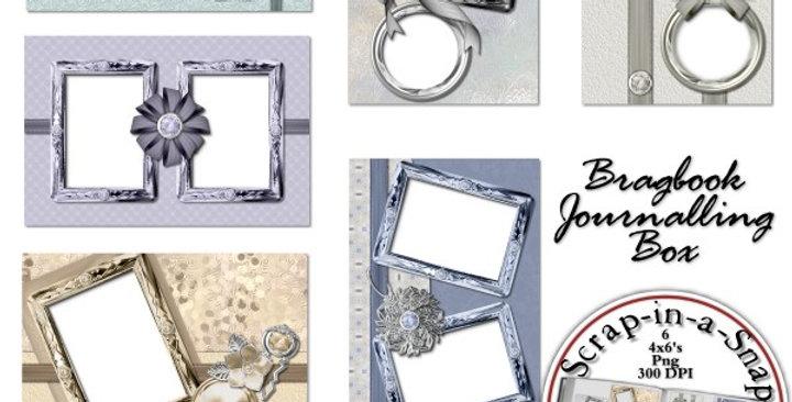 Silvery Springtime Brag Book Album Digital Scrapbooking