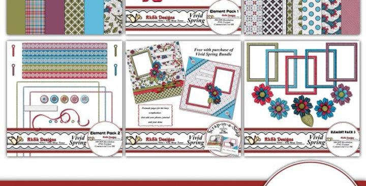Vivid Spring Scrapbooking Kit