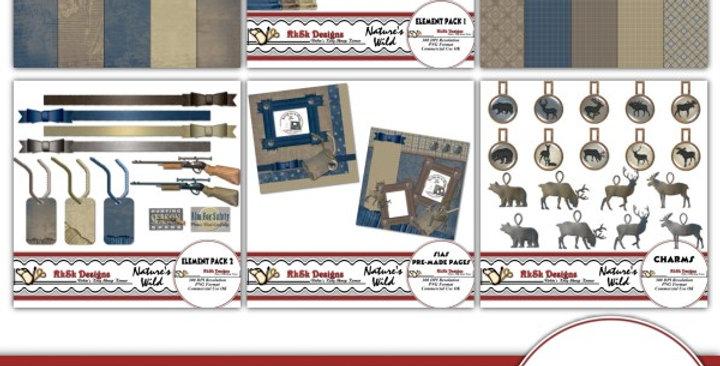 Nature's Wild Digital Scrapbooking Kit
