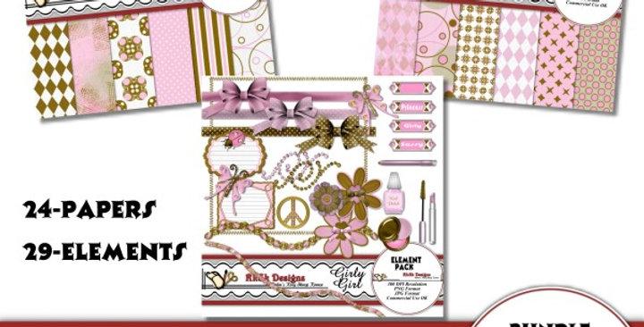 Girly Girl Scrapbooking Kit