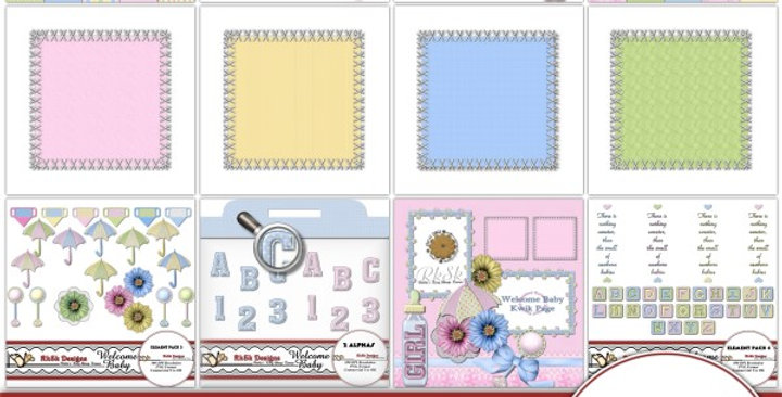 Welcome Baby Scrapbooking Kit