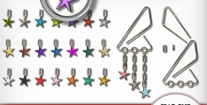 Silver Clip with Stars Scrapbooking Kit