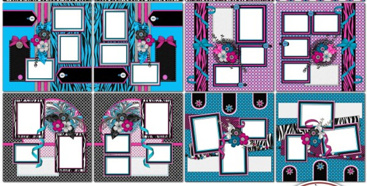RkSkDesigns Totally Zebra SIAS Album 1 Digital Scrapbooking