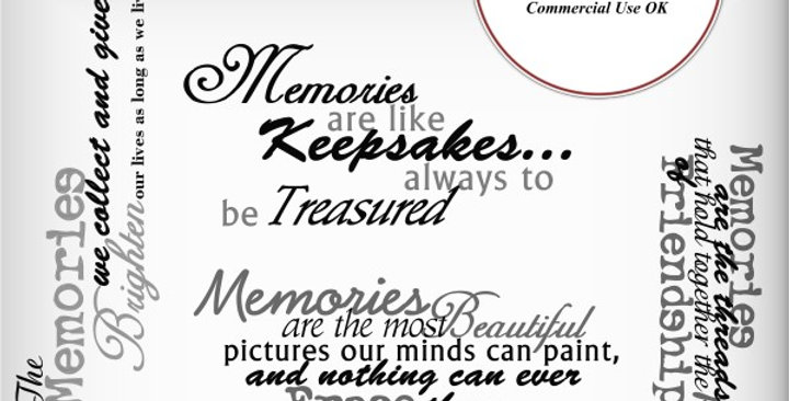 Memories Wordart Scrapbooking Kit