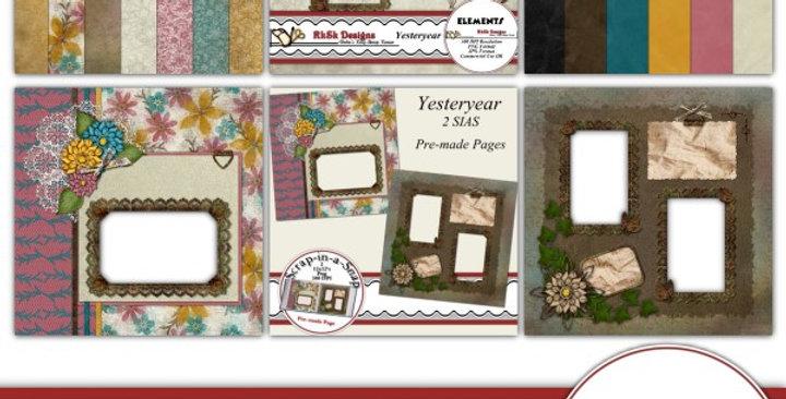 Yesteryear Bundle Digital Scrapbooking Kit