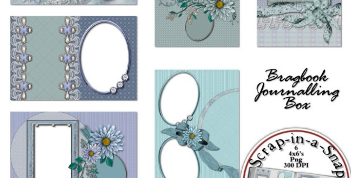 Fields of Lavender Brag Book Album Digital Scrapbooking