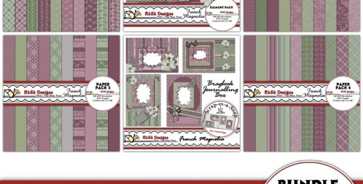 French Magnolia Scrapbooking Kit