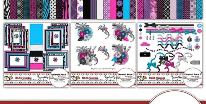 Totally Zebra Scrapbooking Kit